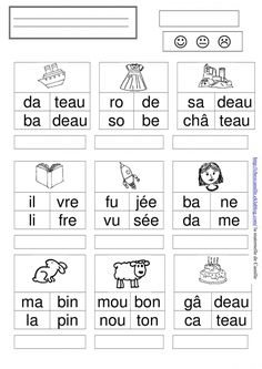 Primary Education, Kids Education, Blending Sounds, French Worksheets, French Classroom, French Language Learning, Teaching French, Teaching Activities, Home Schooling