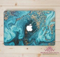 Marbled Wave MacBook Case. MacBook Case. Top (printed) and Bottom (clear) Hard Plastic MacBook Case