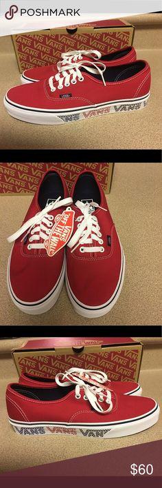 Vans (Vans Checker Tape) Dress Red Size 8.5 Men's Vans Authentic (Vans Checker Tape) Dress Red NIB Size US 8.5 Men's VN0A38EMMQO Vans Shoes Sneakers