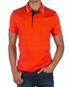 Polo Lacoste Sport BNN - Naranja Estilo Masculino 1d4a5de0caf2b