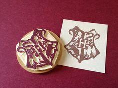 Hogwarts Crest Hand Carved Rubber Stamp