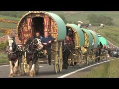 Romany Gypsy caravan on way to Appleby Horse Fair, England, copyright Mark J… Gypsy Caravan, Gypsy Wagon, Gypsy Life, Gypsy Soul, Gypsy Horse, Gypsy Living, Vintage Gypsy, Horse Drawn, Bohemian Gypsy