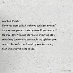 to my best friend...