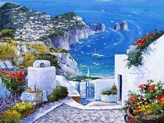 Entries feed for masha_ro Pintura Exterior, Small Canvas Paintings, Italy Art, Dream City, Romantic Getaways, Illustrations, Various Artists, Amazing Art, Cool Art