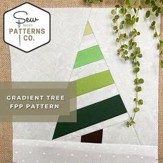 Gradient Tree FPP Pattern FPP Pattern Paper Piecing FPP | Etsy
