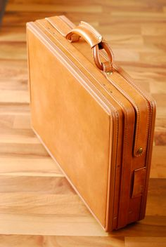Vintage Leather Hartmann Case Briefcase NOS Caramel Honey Camel Brown on Etsy, $250.00