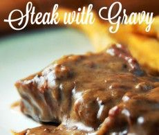 Slow Cooker Steak with Gravy - Recipes That Crock! (Paleo Slow Cooker Bacon)
