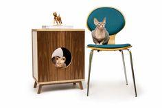 litter hideaway | pet house from Modernistcat.com