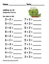 First Grade Math {Frog Math} Math Classroom, Kindergarten Math, Teaching Math, Teaching Ideas, 1st Grade Math Worksheets, First Grade Math, Math For Kids, Fun Math, Math Resources