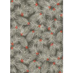 Pine Branch On Slate Wrapping Paper from Paper Source...this is so pretty, I could frame it.