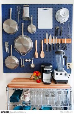 The kitchen is just one of the more important components of a household. To earn a small kitchen appear bigger, there ought to be lots of kitchen lighting. At any time you get a little kitchen, there is just so… Continue Reading → Pegboard Craft Room, Pegboard Storage, Pan Storage, Kitchen Pegboard, Craft Rooms, Tool Storage, Pegboard Display, Storage Ideas, Smart Storage