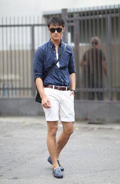 Tod's Gommino - Zhao Lei Modello … ou comment porter un bermuda sans avoir l'air d'un plouc! Sexy Guys, Sexy Men, Terno Slim, Style Men, Bermuda, Toys For Boys, Men Fashion, Gentleman, Sporty