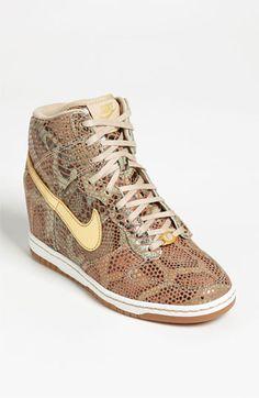 Nike 'Dunk Sky Hi Yots' High-Top Sneaker Womens Linen Nike Shoes Cheap, Nike Free Shoes, Nike Shoes Outlet, Cheap Nike, Nike Outfits, Wedge Sneakers, High Top Sneakers, Baskets, Converse