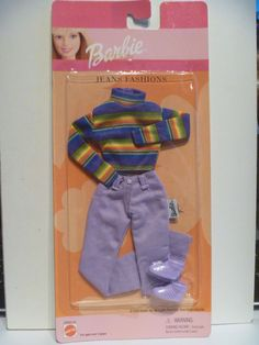"""New Outfit for Barbie With Shoes MIP By Mattel """" Jeans Fashion """" Free Ship #DollClothingAccessories"""