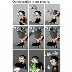 Worst Education system we have. Satire, Caricature, Funny Images, Funny Pictures, Pictures With Deep Meaning, Satirical Illustrations, Meaningful Pictures, Social Art, Humor Grafico