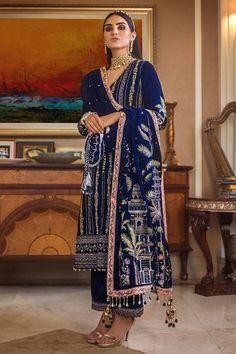 Ethnic Fashion, High Fashion, Pakistani Salwar Kameez, Kurti, Dress With Shawl, Velvet Suit, Embroidery Suits, Punjabi Suits, Designer Wear