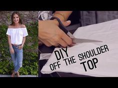 DIY Fashion | Turn Your Old T-Shirt Into a Fashionable Bardot Top (StyleWire) | Hollywire