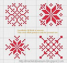 Cross stich snowflakes