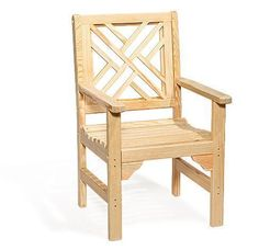 Amish Pine Wood Chippendale Garden Chair Elegant Chippendale Garden Chair for outdoor parties and gatherings. Made with affordable pine wood that's strong and durable. #gardenchair #outdoorchair