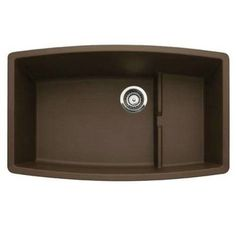 Blanco 440063 Performa Cascade Cafe Brown Super Single Bowl Silgranit Undermount Sink with Ledge