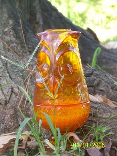 Amber OWL FAIRY LAMP