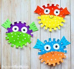 puffer fish craft - ocean kid craft - crafts for kids- kid crafts - acraftylife.com #preschool