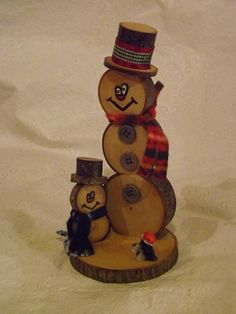 I love working with wood & seeing what I can create. Making wood slice snowmen/women are such a joy. Each one is designed differently depending on the personality I deem is worthy of them. New Puppy Wood Slice Snowman and Snow Son Christmas Decoration is decorated with a ceramic