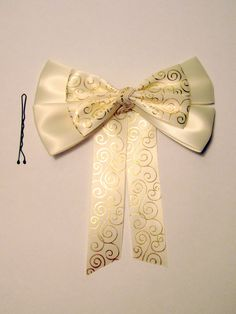 Rapunzel Wedding Dress Hair Bow Tangled Ever After Disney Inspired. $11.00, via Etsy.
