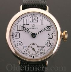 1920s 9ct gold round vintage Omega watch (3709)