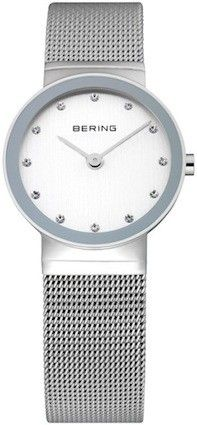 Bering Ladies Silver Dial Mesh Band Classic Watch 10126-000