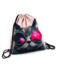 Plecak Kosmos w Okularach II #paniKOTA #koty #kociara #kocierzeczy #plecak #worek