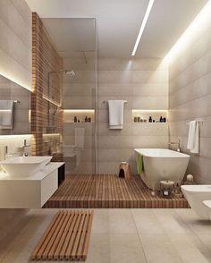 #papodearquiteto #papodeinteriores #banheiros #madeira #interior #interiores #interiordesign