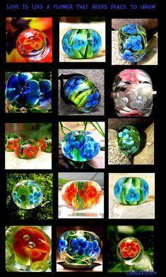 carlees world --- cosmic candies --- Glassbeads from 2004-2008