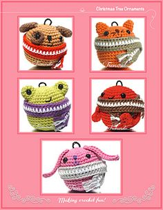 Fill of joy your Christmas tree with these little amigurumi animals that protect themselves from the cold winter.