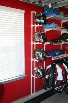 DIY Helmet Rack