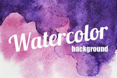 Watercolor painted background by CustomStudio on @creativemarket