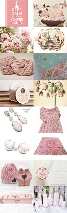 Powder Pink November by Ellen on Etsy--Pinned with TreasuryPin.com
