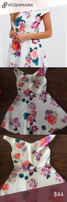 """MINKPINK Floral (off the shoulder) Dress - Condition: Good (used) Condition.                           - Fit: True to Size                                                          - ****Price is negotiable using the """"Offer"""" button ** I don't negotiate in the """"Comments"""" unless an order has been placed.****Will ship 1 day from order** MINKPINK Dresses"""