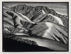 Monterey Hills - Paul Landacre - Wood Engraving - 1931 by Thomas Shahan 3, via Flickr
