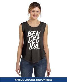 Sin Mangas - Bendecida Graphic Tank, Tank Tops, Women, Fashion, Halter Tops, Christian T Shirts, Colors, Moda, Fashion Styles