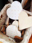 Cuore legno a pois, by Catrenina #handmade #homemade #regali #decorazioni