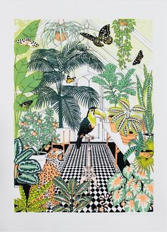 Explorers Greenhouse Jacqueline Colley Print Club London