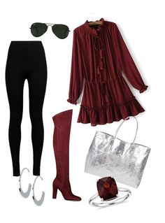 """""""Romantic red"""" by syddeon on Polyvore featuring Ivanka Trump, Wolford, Argento Vivo, Armitage Avenue, Blue Nile and Ray-Ban"""