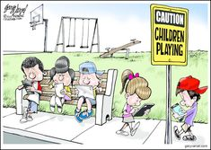 SOCIAL COMMENTARY: Children Playing http://www.studentnewsdaily.com/editorial-cartoon-for-students/caution-gary-varvel/