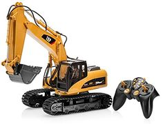 Top Race 15 Channel Full Functional Remote Control Excavator Construction Tractor, Excavator Toy with Transmitter and Metal Shovel – TR 211 Remote Control Toys, Radio Control, Rc Construction Equipment, Rc Tractors, Hydraulic Excavator, Rc Trucks, Activity Toys, Heavy Equipment, Rc Cars