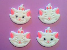 Fondant Marie cat cupcake toppers :)