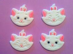 Fondant Marie cat cupcake toppers :)