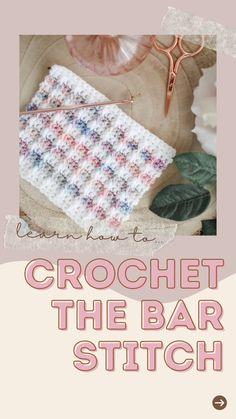 Crotchet Stitches, Crochet Stitches For Beginners, Crotchet Patterns, Crochet Stitches Patterns, Crochet Basics, Crotchet Blanket, Beginner Crochet, Beanie Knitting Patterns Free, Intarsia Knitting