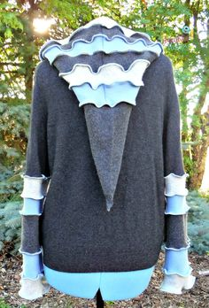 Recycled Cashmere Sweater Cashmere Hoodie Eco by SewFreakinHappy