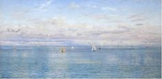 John Brett, Britannia's Realm, 1880, oil on canvas (Tate Britain, London)